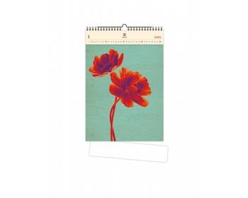 Náhled produktu Luxusní dřevěný nástěnný kalendář Tulip 2021
