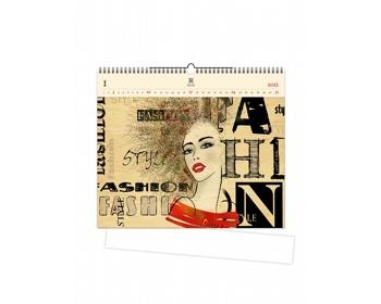 Náhled produktu Luxusní dřevěný nástěnný kalendář Fashion 2021