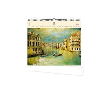Náhled produktu Luxusní dřevěný nástěnný kalendář Venezia IV. 2021