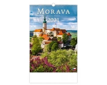 Náhled produktu Nástěnný kalendář Morava/Moravia/Mähren 2021