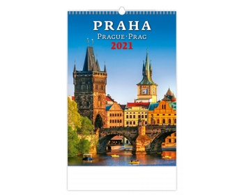 Náhled produktu Nástěnný kalendář Praha/Prague/Prag 2021