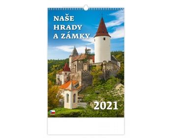 Náhled produktu Nástěnný kalendář Naše hrady a zámky 2021