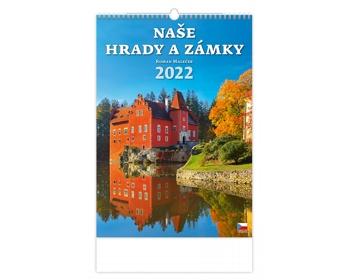 Náhled produktu Nástěnný kalendář Naše hrady a zámky 2022