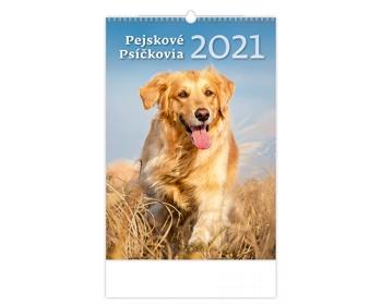 Náhled produktu Nástěnný kalendář Pejskové/Psíčkovia 2021