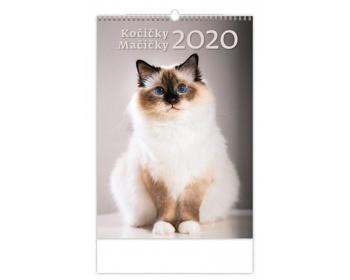 Náhled produktu Nástěnný kalendář Kočičky / Mačičky 2020