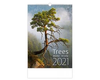 Náhled produktu Nástěnný kalendář Trees/Bäume/Stromy 2021