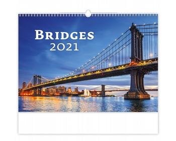 Náhled produktu Nástěnný kalendář Bridges 2021