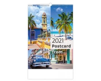 Náhled produktu Nástěnný kalendář Postcard from… 2021