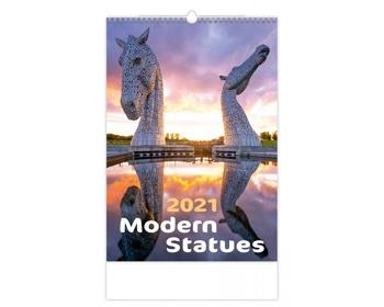 Náhled produktu Nástěnný kalendář Modern Statues 2021