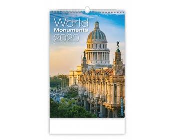 Náhled produktu Nástěnný kalendář World Monuments 2020