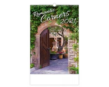 Náhled produktu Nástěnný kalendář Romantic Corners 2021