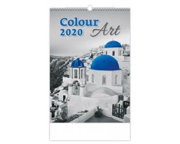 Náhled produktu Nástěnný kalendář Colour Art 2020