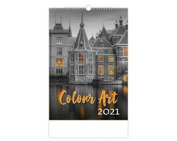 Náhled produktu Nástěnný kalendář Colour Art 2021