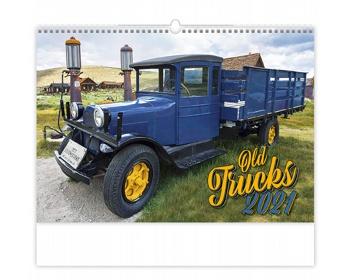 Náhled produktu Nástěnný kalendář Old Trucks 2021