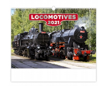 Náhled produktu Nástěnný kalendář Locomotives 2021