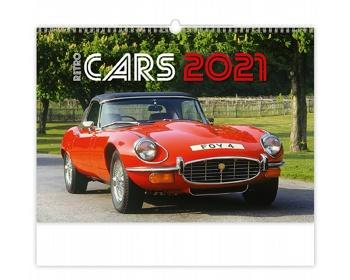 Náhled produktu Nástěnný kalendář Retro Cars 2021