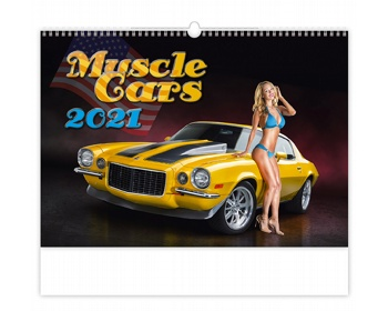 Náhled produktu Nástěnný kalendář Muscle Cars 2021