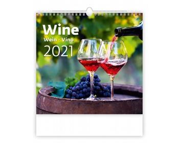 Náhled produktu Nástěnný kalendář Wine 2021
