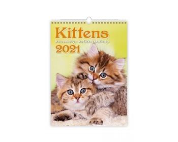 Náhled produktu Nástěnný kalendář Kittens/Katzenbabys/Koťátka/Mačičky 2021