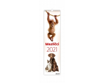Náhled produktu Nástěnný kalendář Mazlíčci 2021 - vázanka
