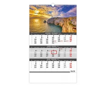 Náhled produktu Tříměsíční nástěnný kalendář 2021 - pobřeží