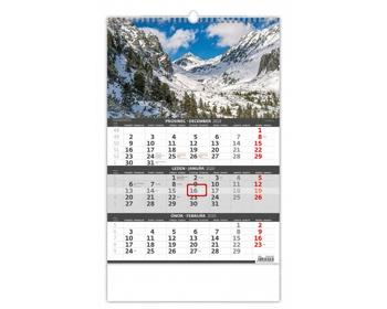 Náhled produktu Tříměsíční nástěnný kalendář 2020 - hory