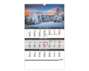 Náhled produktu Tříměsíční nástěnný kalendář 2021 - hory