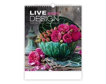 Náhled produktu Nástěnný kalendář Live Design 2021