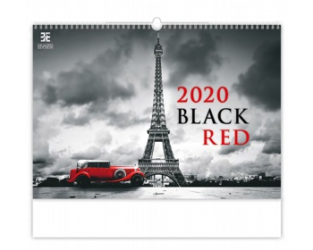 Náhled produktu Nástěnný kalendář Black Red 2020