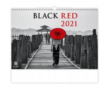 Náhled produktu Nástěnný kalendář Black Red 2021