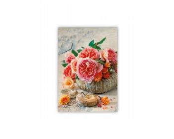 Náhled produktu Luxusní dřevěný nástěnný obraz Shell