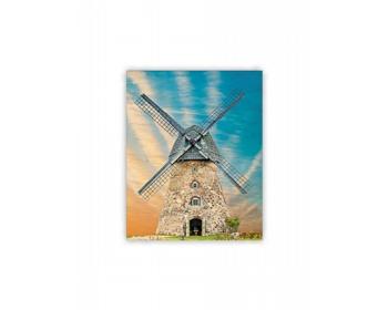 Náhled produktu Luxusní dřevěný nástěnný obraz Windmill