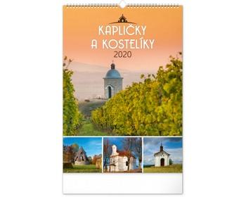 Náhled produktu Nástěnný kalendář Kapličky a kostelíky 2020
