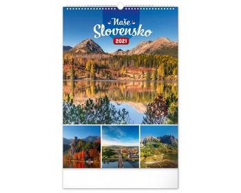 Náhled produktu Nástěnný kalendář Naše Slovensko 2021 - slovenský