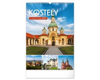 Náhled produktu Nástěnný kalendář Kostely a poutní místa 2021