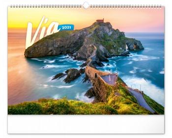 Náhled produktu Nástěnný kalendář Cesty 2021