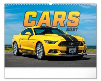 Náhled produktu Nástěnný kalendář Auta 2021
