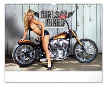 Náhled produktu Nástěnný kalendář Girls & Bikes 2021