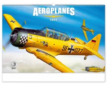 Náhled produktu Nástěnný kalendář Aeroplanes - Jaroslav Velc 2021