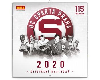 Náhled produktu Nástěnný kalendář HC Sparta Praha 2020 - poznámkový