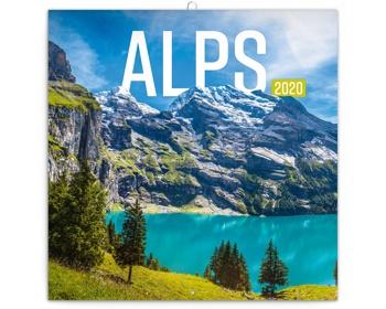 Náhled produktu Nástěnný kalendář Alpy 2020 - poznámkový