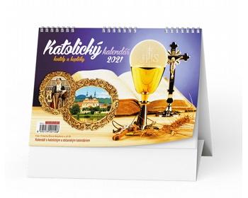 Náhled produktu Stolní kalendář Katolický 2020 - kostely a kapličky