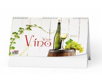Náhled produktu Stolní kalendář Víno 2021