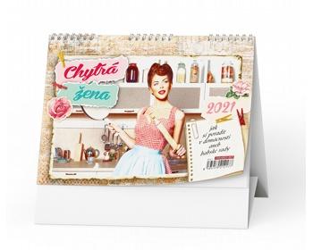 Náhled produktu Stolní kalendář Chytrá žena 2021