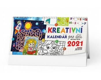 Náhled produktu Stolní kalendář Kreativní pro děti 2021