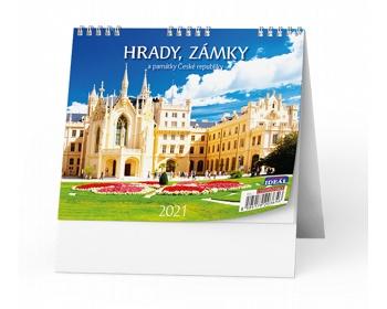 Náhled produktu Stolní kalendář IDEÁL 2020 - Hrady, zámky a památky ČR
