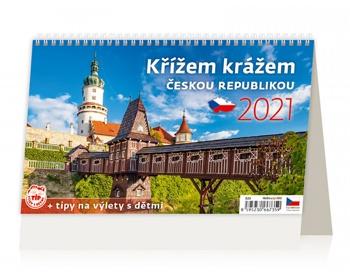 Náhled produktu Stolní kalendář Křížem krážem Českou republikou 2021