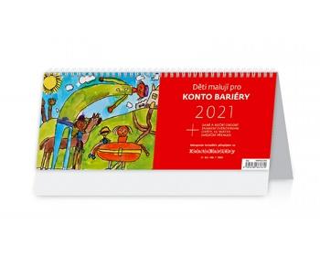 Náhled produktu Stolní kalendář Děti malují pro Konto Bariéry 2021