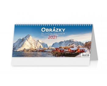 Náhled produktu Stolní kalendář Obrázky ze světa/Obrázky zo sveta 2021