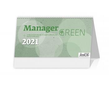 Náhled produktu Stolní kalendář Manager Green na recyklovaném papíře 2021